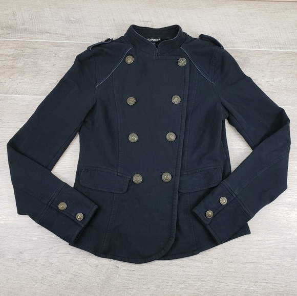 Express Jackets & Blazers - Express Black Stretch Fleece Lined Blazer Jacket